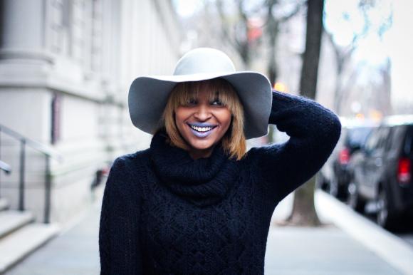Dyandra-Raye-Grey-Hat-Laughing