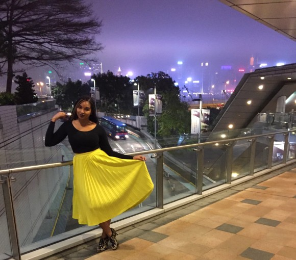 Dyandra-Raye-China-TabbiesOnline-Yellow-Pleated-Skirt