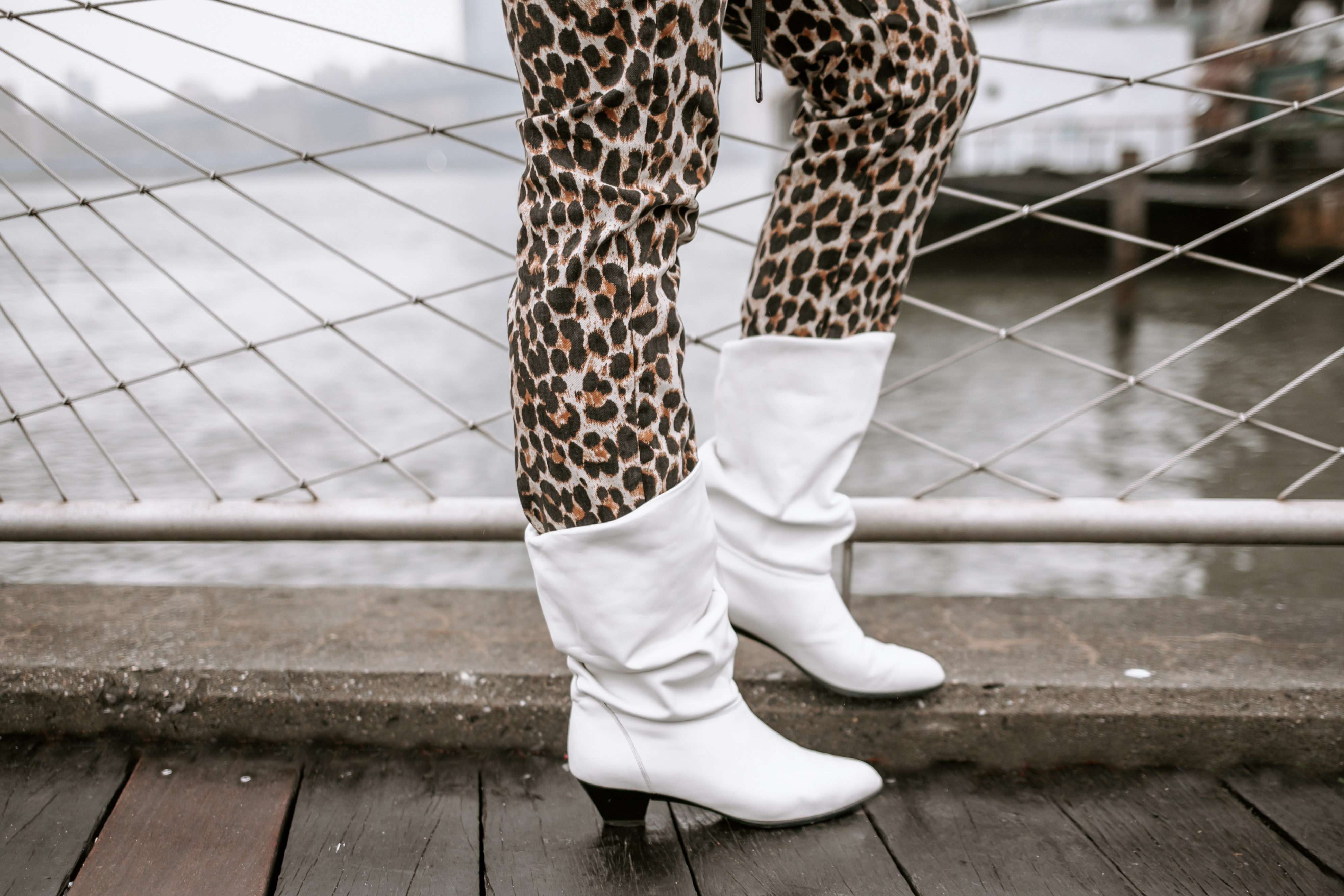 White Slouchy Boots
